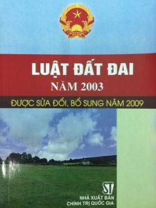 Luật đất đai 2003