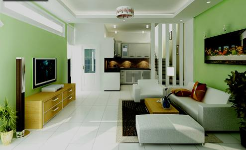 thiết kế nội thất phòng khách