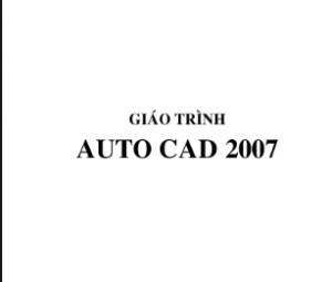 Giáo trình tự học Autocad 2007
