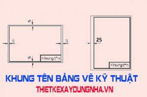 khung tên bảng vẽ kỹ thuật