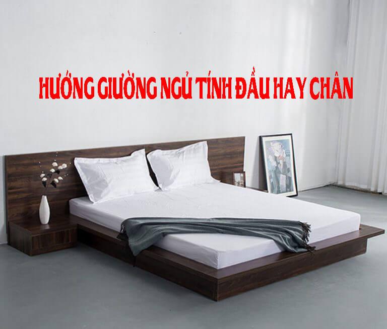 Hướng giường ngủ tính đầu hay chân