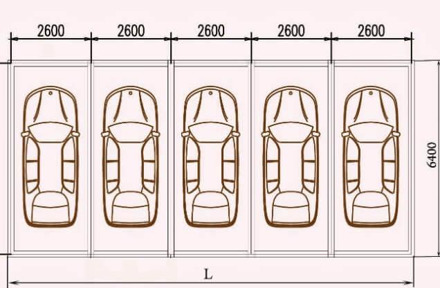 Kích thước nhà để xe ô tô